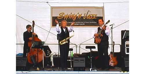 Trio Swing-N-Jazz Bühne