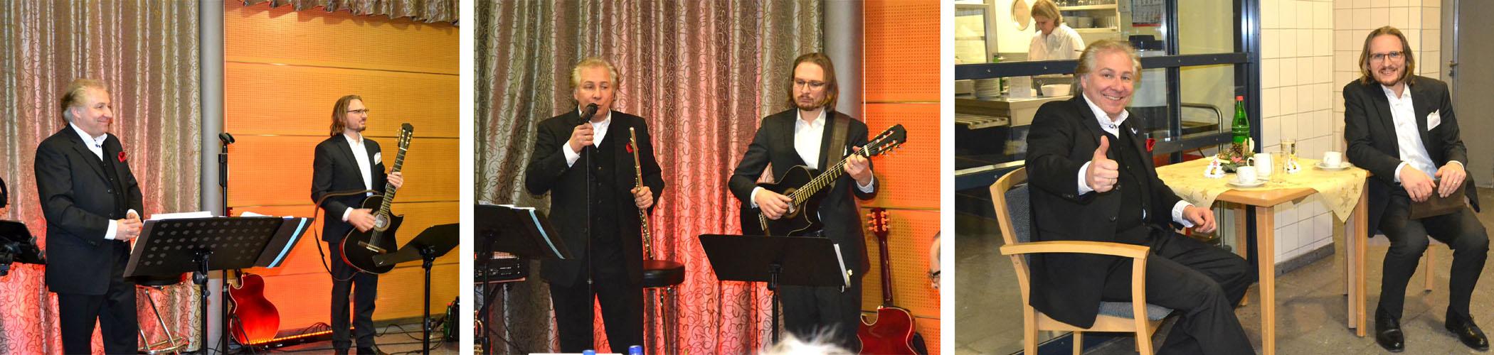 Weihnachtsfeier Peter Roland Duo mit Philipp Straske